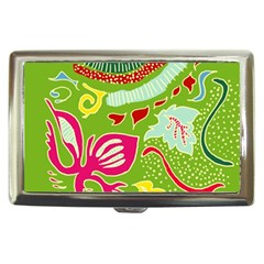 Green Organic Abstract Cigarette Money Cases