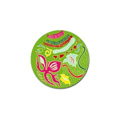Green Organic Abstract Golf Ball Marker by DanaeStudio
