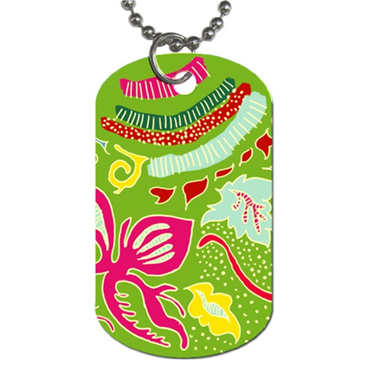 Green Organic Abstract Dog Tag (Two Sides)