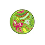 Green Organic Abstract Hat Clip Ball Marker Front