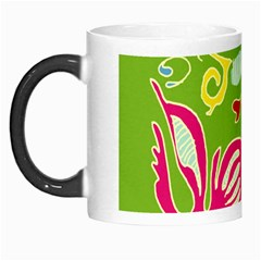 Green Organic Abstract Morph Mugs by DanaeStudio
