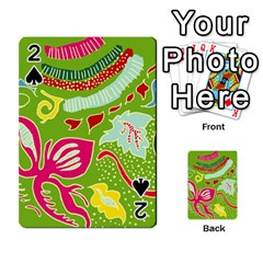 Green Organic Abstract Playing Cards 54 Designs