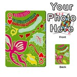 Green Organic Abstract Playing Cards 54 Designs  Front - HeartQ