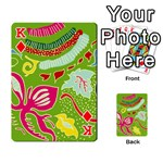 Green Organic Abstract Playing Cards 54 Designs  Front - DiamondK