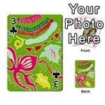 Green Organic Abstract Playing Cards 54 Designs  Front - Club3