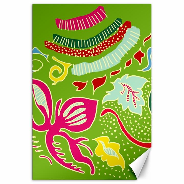 Green Organic Abstract Canvas 20  x 30