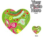 Green Organic Abstract Playing Cards 54 (Heart)  Front - Heart4