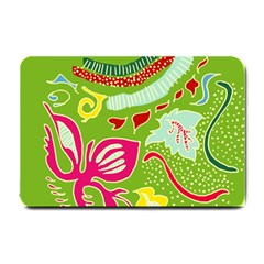 Green Organic Abstract Small Doormat  by DanaeStudio