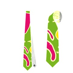 Green Organic Abstract Neckties (one Side)