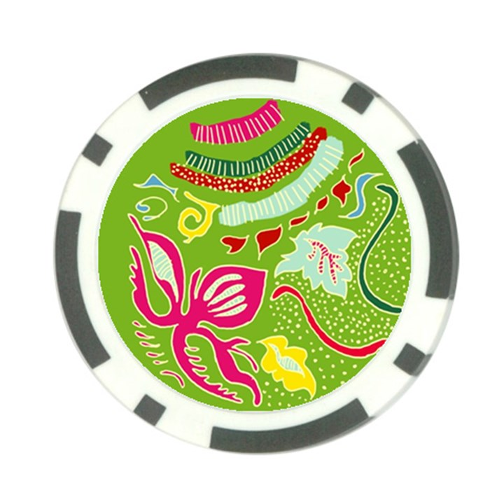Green Organic Abstract Poker Chip Card Guards