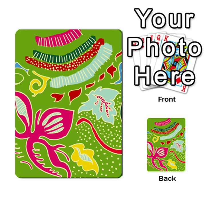 Green Organic Abstract Multi-purpose Cards (Rectangle)