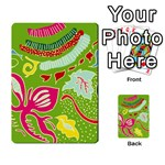 Green Organic Abstract Multi-purpose Cards (Rectangle)  Frontback