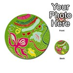 Green Organic Abstract Multi-purpose Cards (Round)  Back 40