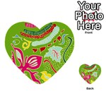 Green Organic Abstract Multi-purpose Cards (Heart)  Front 3
