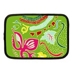 Green Organic Abstract Netbook Case (Medium)  Front