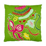 Green Organic Abstract Standard Cushion Case (One Side) Front