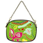 Green Organic Abstract Chain Purses (Two Sides)  Back