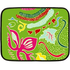 Green Organic Abstract Fleece Blanket (mini) by DanaeStudio
