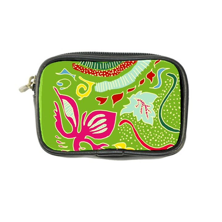 Green Organic Abstract Coin Purse