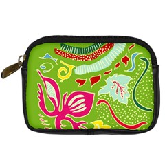 Green Organic Abstract Digital Camera Cases by DanaeStudio