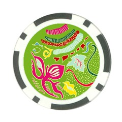 Green Organic Abstract Poker Chip Card Guards (10 pack)