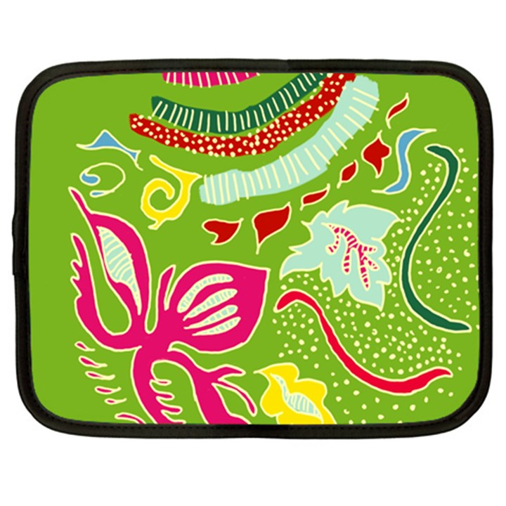 Green Organic Abstract Netbook Case (XL)