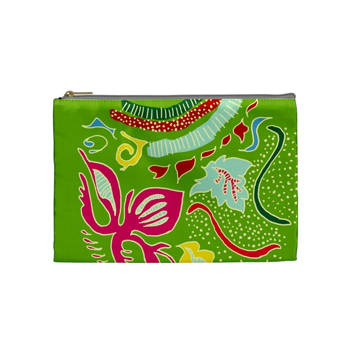 Green Organic Abstract Cosmetic Bag (Medium)