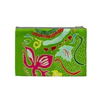 Green Organic Abstract Cosmetic Bag (Medium)  Back