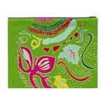 Green Organic Abstract Cosmetic Bag (XL) Back