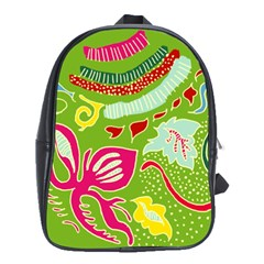 Green Organic Abstract School Bags(large)  by DanaeStudio