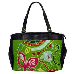 Green Organic Abstract Office Handbags by DanaeStudio