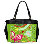 Green Organic Abstract Office Handbags (2 Sides)  Back