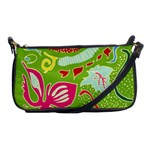 Green Organic Abstract Shoulder Clutch Bags Front