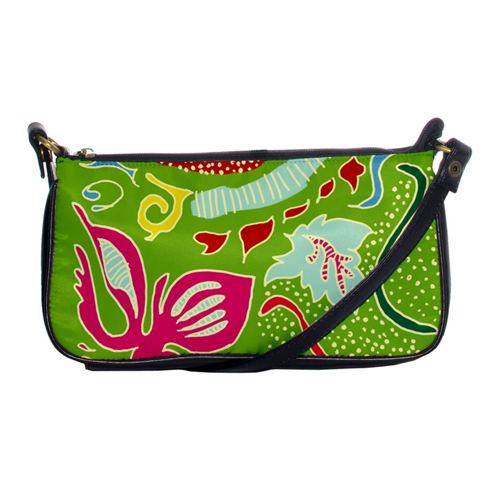Green Organic Abstract Shoulder Clutch Bags