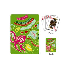 Green Organic Abstract Playing Cards (mini)