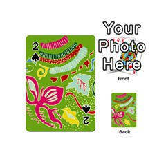 Green Organic Abstract Playing Cards 54 (mini)  by DanaeStudio