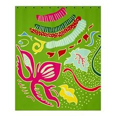 Green Organic Abstract Shower Curtain 60  X 72  (medium)  by DanaeStudio