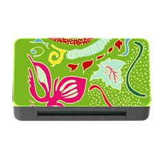 Green Organic Abstract Memory Card Reader With Cf by DanaeStudio
