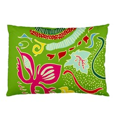 Green Organic Abstract Pillow Case (two Sides) by DanaeStudio