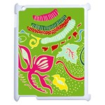 Green Organic Abstract Apple iPad 2 Case (White) Front