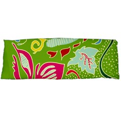 Green Organic Abstract Body Pillow Case Dakimakura (two Sides) by DanaeStudio