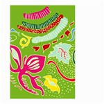 Green Organic Abstract Small Garden Flag (Two Sides) Back