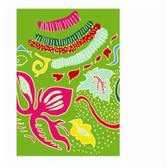 Green Organic Abstract Large Garden Flag (Two Sides)