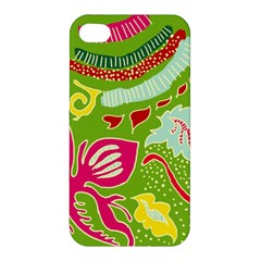 Green Organic Abstract Apple Iphone 4/4s Premium Hardshell Case by DanaeStudio