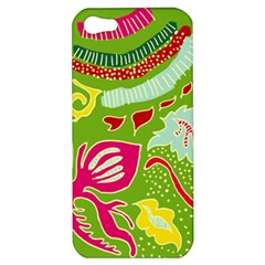 Green Organic Abstract Apple Iphone 5 Hardshell Case by DanaeStudio