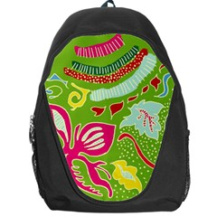 Green Organic Abstract Backpack Bag by DanaeStudio