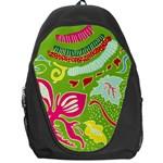 Green Organic Abstract Backpack Bag