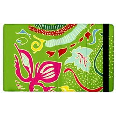 Green Organic Abstract Apple Ipad 3/4 Flip Case