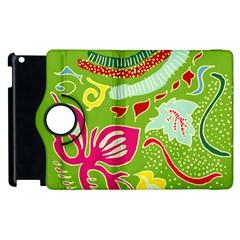 Green Organic Abstract Apple Ipad 2 Flip 360 Case by DanaeStudio