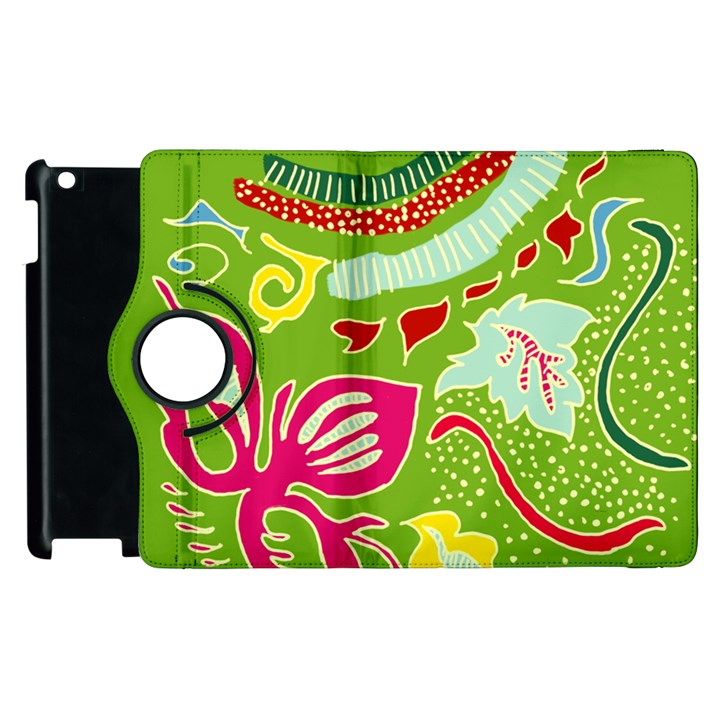 Green Organic Abstract Apple iPad 2 Flip 360 Case